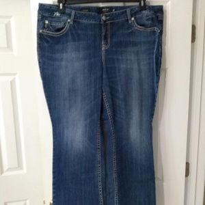 Torrid Relaxed Boot Cut Jeans Back Pocket Design